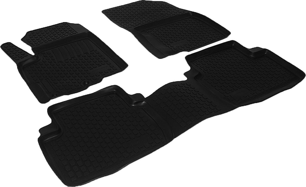 Коврики в салон автомобиля L.Locker, для Mitsubishi Outlander XL (07-), 3 шт72/14/11Коврики L.Locker производятся индивидуально для каждой модели автомобиля из современного и экологически чистого материала. Изделия точно повторяют геометрию пола автомобиля, имеют высокий борт, обладают повышенной износоустойчивостью, антискользящими свойствами, лишены резкого запаха и сохраняют свои потребительские свойства в широком диапазоне температур (от -50°С до +80°С). Рисунок ковриков специально спроектирован для уменьшения скольжения ног водителя и имеет достаточную глубину, препятствующую свободному перемещению жидкости и грязи на поверхности. Одновременно с этим рисунок не создает дискомфорта при вождении автомобиля. Водительский ковер с предустановленными креплениями фиксируется на штатные места в полу салона автомобиля. Новая технология системы креплений герметична, не дает влаге и грязи проникать внутрь через крепеж на обшивку пола.