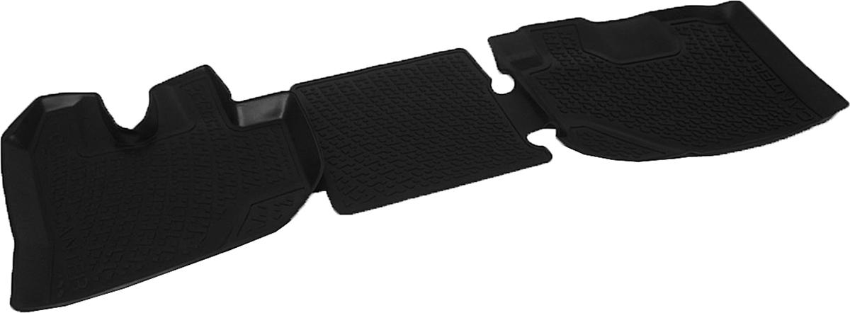 Коврики в салон автомобиля L.Locker, для Mitsubishi Fuso Canter (10-), передниеFS-80264Коврики L.Locker производятся индивидуально для каждой модели автомобиля из современного и экологически чистого материала. Изделия точно повторяют геометрию пола автомобиля, имеют высокий борт, обладают повышенной износоустойчивостью, антискользящими свойствами, лишены резкого запаха и сохраняют свои потребительские свойства в широком диапазоне температур (от -50°С до +80°С). Рисунок ковриков специально спроектирован для уменьшения скольжения ног водителя и имеет достаточную глубину, препятствующую свободному перемещению жидкости и грязи на поверхности. Одновременно с этим рисунок не создает дискомфорта при вождении автомобиля. Водительский ковер с предустановленными креплениями фиксируется на штатные места в полу салона автомобиля. Новая технология системы креплений герметична, не дает влаге и грязи проникать внутрь через крепеж на обшивку пола.