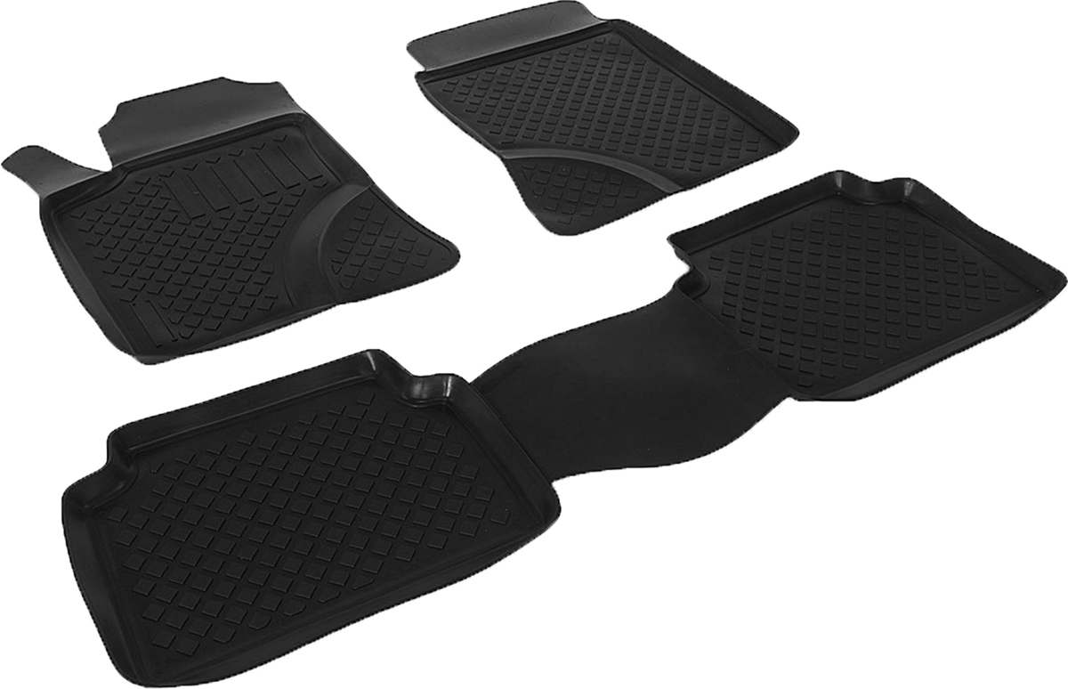Коврики в салон автомобиля L.Locker, для Tоyota Avensis (02-08), 4 штВетерок 2ГФКоврики L.Locker производятся индивидуально для каждой модели автомобиля из современного и экологически чистого материала. Изделия точно повторяют геометрию пола автомобиля, имеют высокий борт, обладают повышенной износоустойчивостью, антискользящими свойствами, лишены резкого запаха и сохраняют свои потребительские свойства в широком диапазоне температур (от -50°С до +80°С). Рисунок ковриков специально спроектирован для уменьшения скольжения ног водителя и имеет достаточную глубину, препятствующую свободному перемещению жидкости и грязи на поверхности. Одновременно с этим рисунок не создает дискомфорта при вождении автомобиля. Водительский ковер с предустановленными креплениями фиксируется на штатные места в полу салона автомобиля. Новая технология системы креплений герметична, не дает влаге и грязи проникать внутрь через крепеж на обшивку пола.