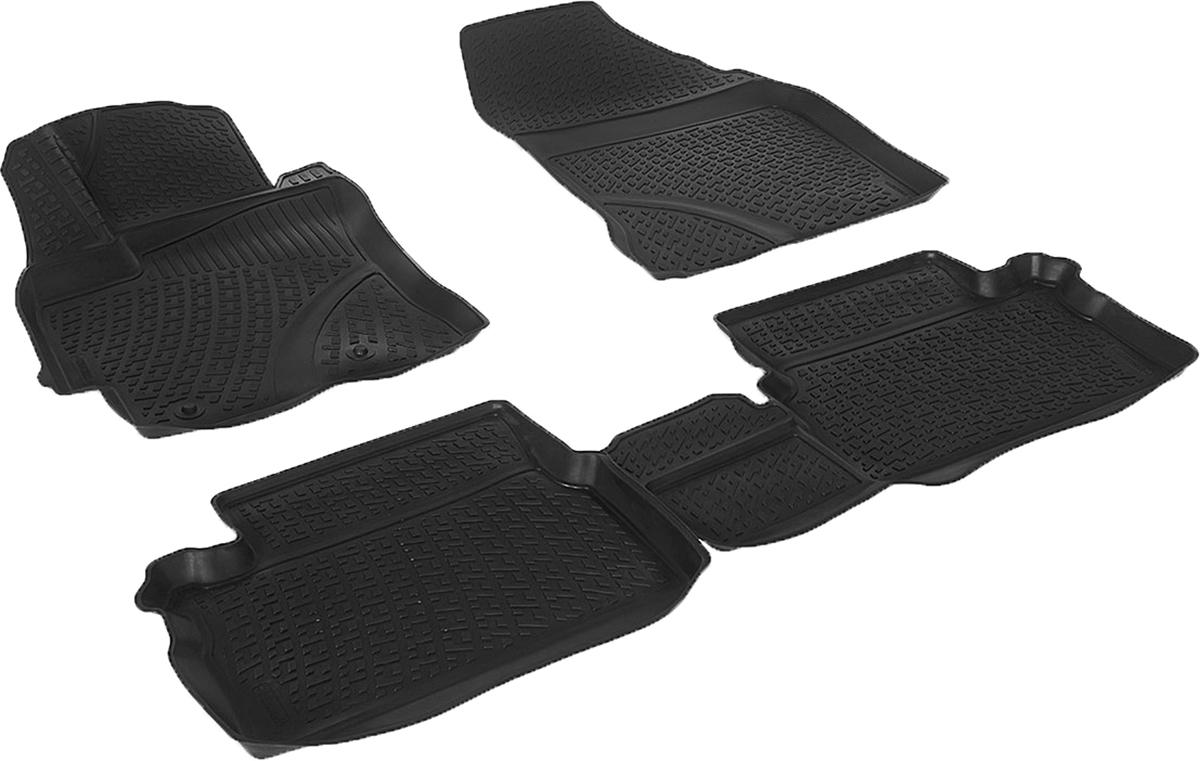 Коврики в салон автомобиля L.Locker, для Toyota Auris II (12-)CA-3505Коврики L.Locker производятся индивидуально для каждой модели автомобиля из современного и экологически чистого материала. Изделия точно повторяют геометрию пола автомобиля, имеют высокий борт, обладают повышенной износоустойчивостью, антискользящими свойствами, лишены резкого запаха и сохраняют свои потребительские свойства в широком диапазоне температур (от -50°С до +80°С). Рисунок ковриков специально спроектирован для уменьшения скольжения ног водителя и имеет достаточную глубину, препятствующую свободному перемещению жидкости и грязи на поверхности. Одновременно с этим рисунок не создает дискомфорта при вождении автомобиля. Водительский ковер с предустановленными креплениями фиксируется на штатные места в полу салона автомобиля. Новая технология системы креплений герметична, не дает влаге и грязи проникать внутрь через крепеж на обшивку пола.
