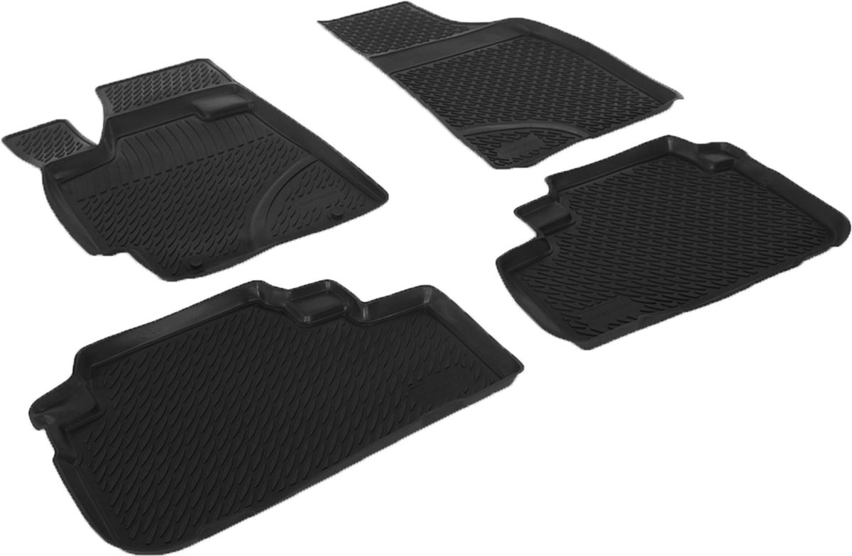 Коврики в салон автомобиля L.Locker, для Toyota Highlander II (07-), 4 штВетерок 2ГФКоврики L.Locker производятся индивидуально для каждой модели автомобиля из современного и экологически чистого материала. Изделия точно повторяют геометрию пола автомобиля, имеют высокий борт, обладают повышенной износоустойчивостью, антискользящими свойствами, лишены резкого запаха и сохраняют свои потребительские свойства в широком диапазоне температур (от -50°С до +80°С). Рисунок ковриков специально спроектирован для уменьшения скольжения ног водителя и имеет достаточную глубину, препятствующую свободному перемещению жидкости и грязи на поверхности. Одновременно с этим рисунок не создает дискомфорта при вождении автомобиля. Водительский ковер с предустановленными креплениями фиксируется на штатные места в полу салона автомобиля. Новая технология системы креплений герметична, не дает влаге и грязи проникать внутрь через крепеж на обшивку пола.