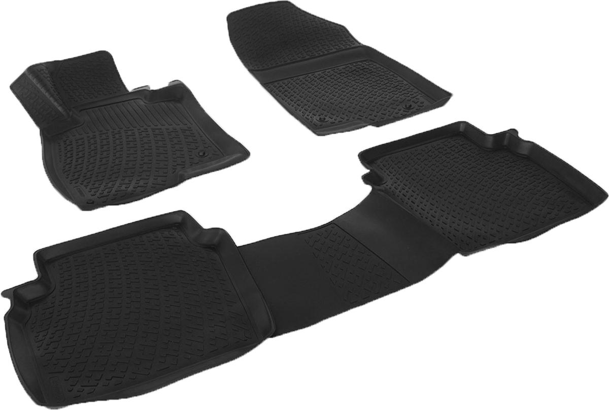 Коврики в салон автомобиля L.Locker, для Mazda 6 III (12-)WT-CD37Коврики L.Locker производятся индивидуально для каждой модели автомобиля из современного и экологически чистого материала. Изделия точно повторяют геометрию пола автомобиля, имеют высокий борт, обладают повышенной износоустойчивостью, антискользящими свойствами, лишены резкого запаха и сохраняют свои потребительские свойства в широком диапазоне температур (от -50°С до +80°С). Рисунок ковриков специально спроектирован для уменьшения скольжения ног водителя и имеет достаточную глубину, препятствующую свободному перемещению жидкости и грязи на поверхности. Одновременно с этим рисунок не создает дискомфорта при вождении автомобиля. Водительский ковер с предустановленными креплениями фиксируется на штатные места в полу салона автомобиля. Новая технология системы креплений герметична, не дает влаге и грязи проникать внутрь через крепеж на обшивку пола.