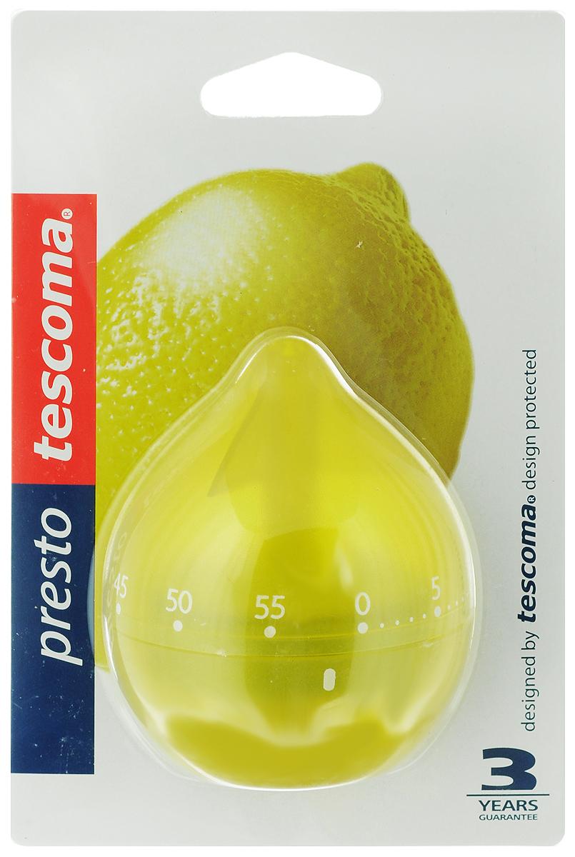 Таймер кухонный Tescoma Фрукт. Лимон, цвет: желтый, на 60 минCL-4559Кухонный таймер Tescoma Фрукт. Лимон изготовлен из цветного пластика. Таймер выполнен в виде лимона. Максимальное время, на которое вы можете поставить таймер, составляет 60 минут. После того, как время истечет, таймер громко зазвенит. Оригинальный дизайн таймера украсит интерьер любой современной кухни, и теперь вы сможете без труда вскипятить молоко, отварить пельмени или вовремя вынуть из духовки аппетитный пирог.
