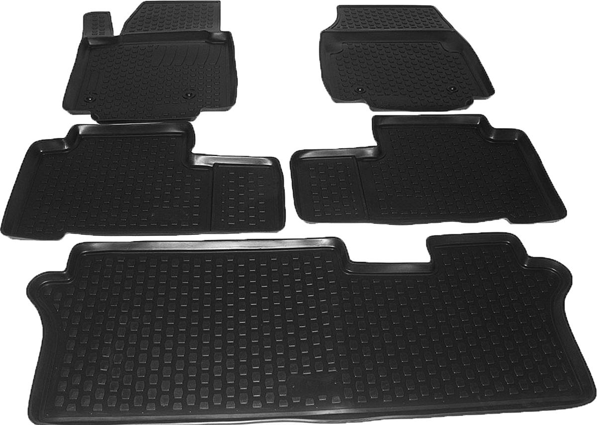 Коврики в салон автомобиля L.Locker, для Honda Pilot (08-), 5 шт6271DWAEКоврики L.Locker производятся индивидуально для каждой модели автомобиля из современного и экологически чистого материала. Изделия точно повторяют геометрию пола автомобиля, имеют высокий борт, обладают повышенной износоустойчивостью, антискользящими свойствами, лишены резкого запаха и сохраняют свои потребительские свойства в широком диапазоне температур (от -50°С до +80°С). Рисунок ковриков специально спроектирован для уменьшения скольжения ног водителя и имеет достаточную глубину, препятствующую свободному перемещению жидкости и грязи на поверхности. Одновременно с этим рисунок не создает дискомфорта при вождении автомобиля. Водительский ковер с предустановленными креплениями фиксируется на штатные места в полу салона автомобиля. Новая технология системы креплений герметична, не дает влаге и грязи проникать внутрь через крепеж на обшивку пола.