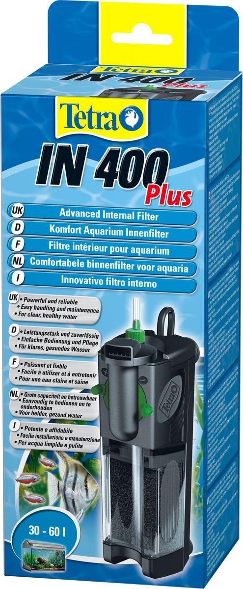 Фильтр внутренний TetraIN 400 Plus, для аквариумов до 60 л607644Мощный и удобный внутренний фильтр для механической, биологической и химической очистки воды в аквариуме до 60 л.Фильтр изготовлен с 2 камерами очистки.Новая конструкция дает возможность извлекать наполнитель, не трогая при этом фильтрационную губку.Водный оборот настраивается для определенного аквариума в индивидуальном порядке.Выходные сопла прибора вращаются на 180 градусов.Есть дополнительный воздушный забор, осуществляемый системой Venturi.Компактная конструкция фильтра занимает совсем немного свободного пространства.Стабильные присоски прочно закрепляют прибор на стеклянной поверхности.В качестве запасных элементов в комплекте прибора предусмотрены активированный уголь и биологическая губка, а также качественные удостоверения.