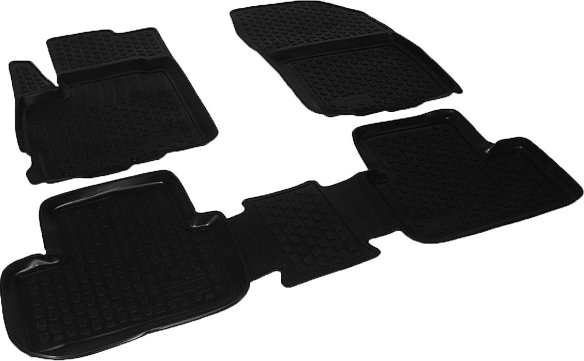 Коврики в салон автомобиля L.Locker, для Peugeot 4008 (12-), 4 штSPC/CLS-504 BK/GYКоврики L.Locker производятся индивидуально для каждой модели автомобиля из современного и экологически чистого материала. Изделия точно повторяют геометрию пола автомобиля, имеют высокий борт, обладают повышенной износоустойчивостью, антискользящими свойствами, лишены резкого запаха и сохраняют свои потребительские свойства в широком диапазоне температур (от -50°С до +80°С). Рисунок ковриков специально спроектирован для уменьшения скольжения ног водителя и имеет достаточную глубину, препятствующую свободному перемещению жидкости и грязи на поверхности. Одновременно с этим рисунок не создает дискомфорта при вождении автомобиля. Водительский ковер с предустановленными креплениями фиксируется на штатные места в полу салона автомобиля. Новая технология системы креплений герметична, не дает влаге и грязи проникать внутрь через крепеж на обшивку пола.