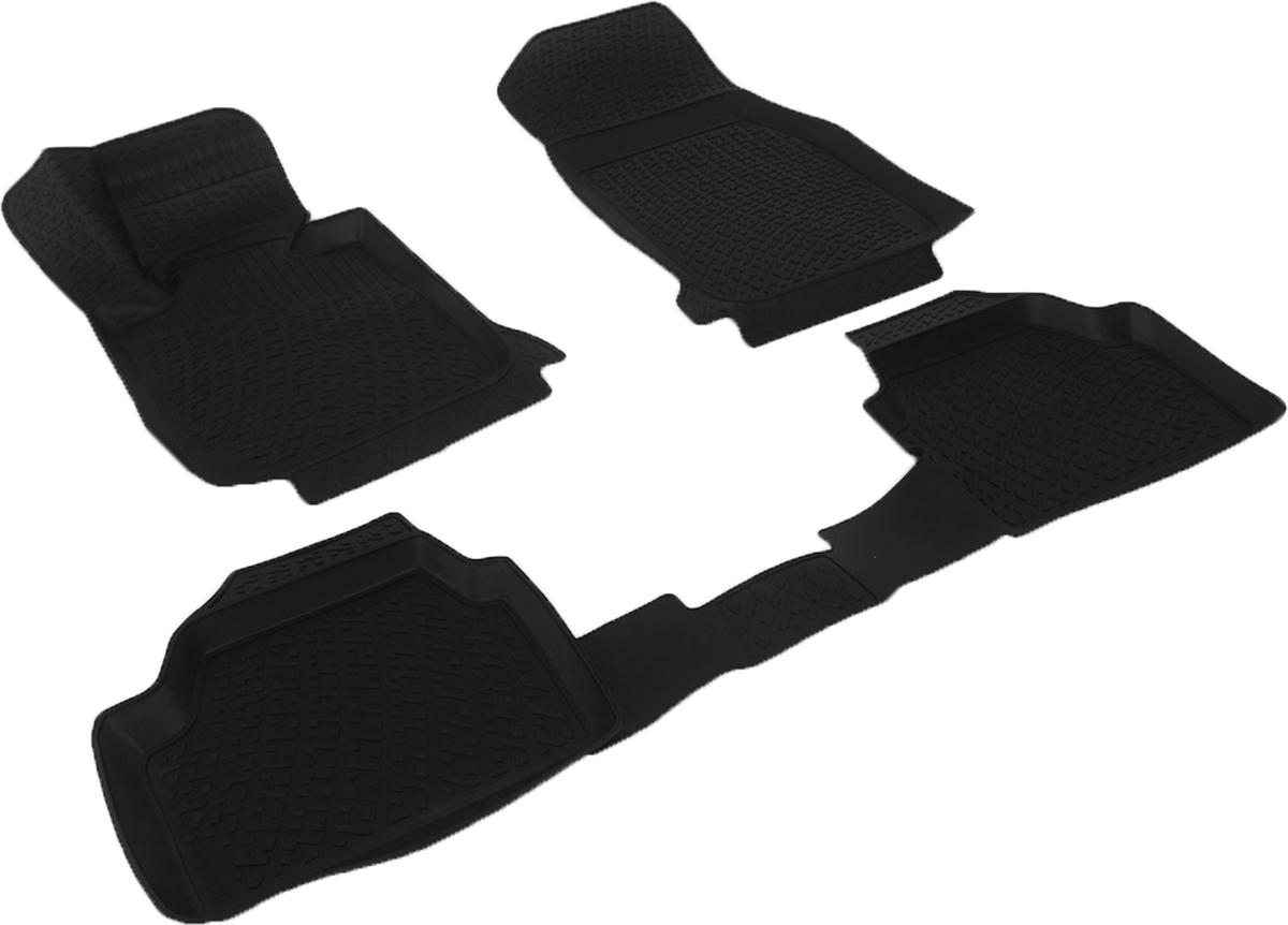 Коврики в салон автомобиля L.Locker, для BMW 1er II (F20) 5 door (11-), 3 шткн14,4сКоврики L.Locker производятся индивидуально для каждой модели автомобиля из современного и экологически чистого материала. Изделия точно повторяют геометрию пола автомобиля, имеют высокий борт, обладают повышенной износоустойчивостью, антискользящими свойствами, лишены резкого запаха и сохраняют свои потребительские свойства в широком диапазоне температур (от -50°С до +80°С). Рисунок ковриков специально спроектирован для уменьшения скольжения ног водителя и имеет достаточную глубину, препятствующую свободному перемещению жидкости и грязи на поверхности. Одновременно с этим рисунок не создает дискомфорта при вождении автомобиля. Водительский ковер с предустановленными креплениями фиксируется на штатные места в полу салона автомобиля. Новая технология системы креплений герметична, не дает влаге и грязи проникать внутрь через крепеж на обшивку пола.