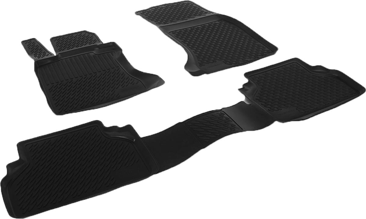 Коврики в салон автомобиля L.Locker, для BMW 5-series sd (03-), 4 шт0220090101Коврики L.Locker производятся индивидуально для каждой модели автомобиля из современного и экологически чистого материала. Изделия точно повторяют геометрию пола автомобиля, имеют высокий борт, обладают повышенной износоустойчивостью, антискользящими свойствами, лишены резкого запаха и сохраняют свои потребительские свойства в широком диапазоне температур (от -50°С до +80°С). Рисунок ковриков специально спроектирован для уменьшения скольжения ног водителя и имеет достаточную глубину, препятствующую свободному перемещению жидкости и грязи на поверхности. Одновременно с этим рисунок не создает дискомфорта при вождении автомобиля. Водительский ковер с предустановленными креплениями фиксируется на штатные места в полу салона автомобиля. Новая технология системы креплений герметична, не дает влаге и грязи проникать внутрь через крепеж на обшивку пола.