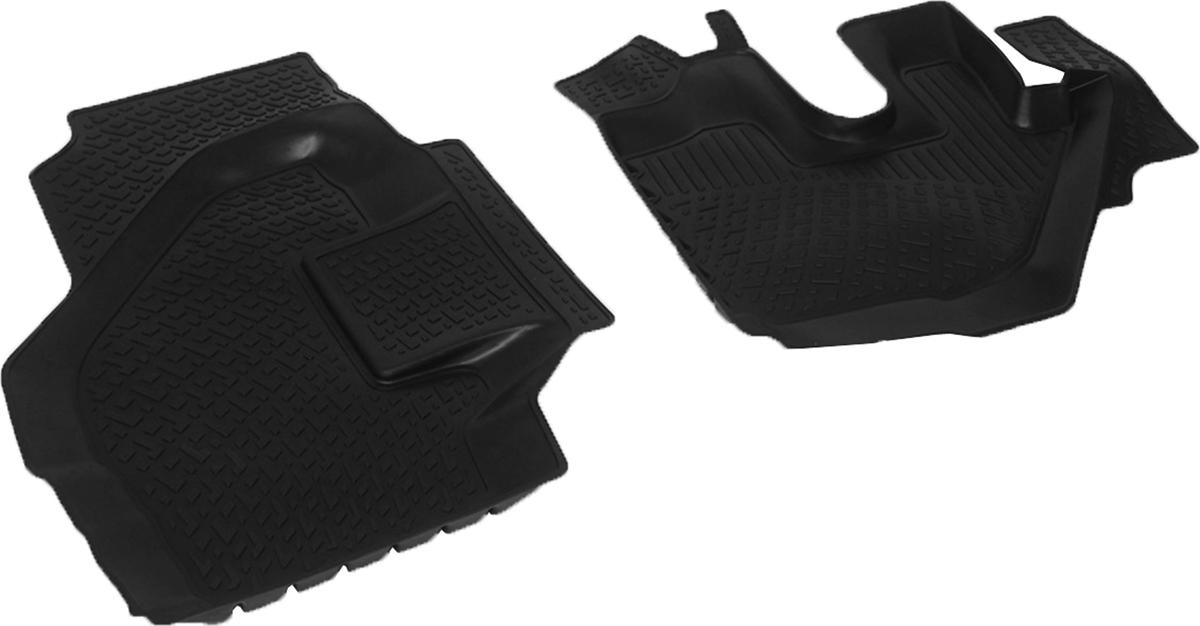Коврики в салон автомобиля L.Locker, для Isuzu NLR 85, NMR 85 (08-), 2 штВетерок 2ГФКоврики L.Locker производятся индивидуально для каждой модели автомобиля из современного и экологически чистого материала. Изделия точно повторяют геометрию пола автомобиля, имеют высокий борт, обладают повышенной износоустойчивостью, антискользящими свойствами, лишены резкого запаха и сохраняют свои потребительские свойства в широком диапазоне температур (от -50°С до +80°С). Рисунок ковриков специально спроектирован для уменьшения скольжения ног водителя и имеет достаточную глубину, препятствующую свободному перемещению жидкости и грязи на поверхности. Одновременно с этим рисунок не создает дискомфорта при вождении автомобиля. Водительский ковер с предустановленными креплениями фиксируется на штатные места в полу салона автомобиля. Новая технология системы креплений герметична, не дает влаге и грязи проникать внутрь через крепеж на обшивку пола.