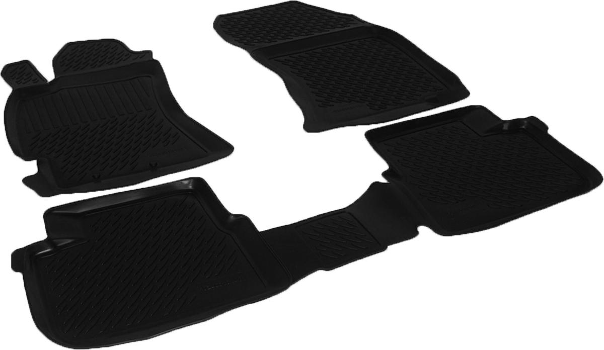 Коврики в салон автомобиля L.Locker, для Subaru Forester III (08-)0224040101Коврики L.Locker производятся индивидуально для каждой модели автомобиля из современного и экологически чистого материала. Изделия точно повторяют геометрию пола автомобиля, имеют высокий борт, обладают повышенной износоустойчивостью, антискользящими свойствами, лишены резкого запаха и сохраняют свои потребительские свойства в широком диапазоне температур (от -50°С до +80°С). Рисунок ковриков специально спроектирован для уменьшения скольжения ног водителя и имеет достаточную глубину, препятствующую свободному перемещению жидкости и грязи на поверхности. Одновременно с этим рисунок не создает дискомфорта при вождении автомобиля. Водительский ковер с предустановленными креплениями фиксируется на штатные места в полу салона автомобиля. Новая технология системы креплений герметична, не дает влаге и грязи проникать внутрь через крепеж на обшивку пола.