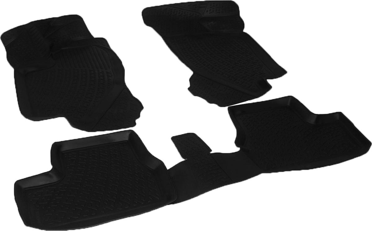 Коврики в салон автомобиля L.Locker, для Datsun mi-DO hb 5 dr (14-), 3 шт4258658Коврики L.Locker производятся индивидуально для каждой модели автомобиля из современного и экологически чистого материала. Изделия точно повторяют геометрию пола автомобиля, имеют высокий борт, обладают повышенной износоустойчивостью, антискользящими свойствами, лишены резкого запаха и сохраняют свои потребительские свойства в широком диапазоне температур (от -50°С до +80°С). Рисунок ковриков специально спроектирован для уменьшения скольжения ног водителя и имеет достаточную глубину, препятствующую свободному перемещению жидкости и грязи на поверхности. Одновременно с этим рисунок не создает дискомфорта при вождении автомобиля. Водительский ковер с предустановленными креплениями фиксируется на штатные места в полу салона автомобиля. Новая технология системы креплений герметична, не дает влаге и грязи проникать внутрь через крепеж на обшивку пола.