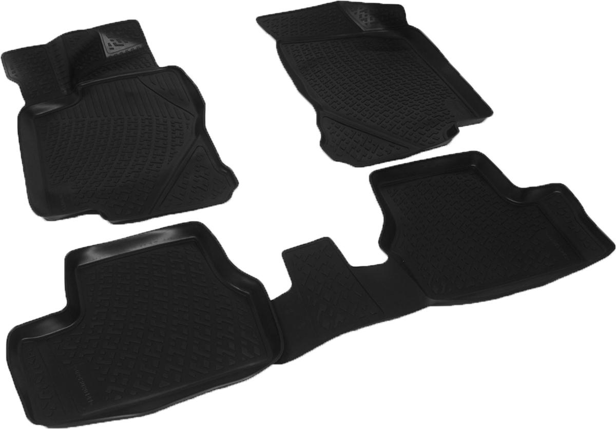 Коврики в салон автомобиля L.Locker, для Datsun on-DO sd (14-), 4 штWT-CD37Коврики L.Locker производятся индивидуально для каждой модели автомобиля из современного и экологически чистого материала. Изделия точно повторяют геометрию пола автомобиля, имеют высокий борт, обладают повышенной износоустойчивостью, антискользящими свойствами, лишены резкого запаха и сохраняют свои потребительские свойства в широком диапазоне температур (от -50°С до +80°С). Рисунок ковриков специально спроектирован для уменьшения скольжения ног водителя и имеет достаточную глубину, препятствующую свободному перемещению жидкости и грязи на поверхности. Одновременно с этим рисунок не создает дискомфорта при вождении автомобиля. Водительский ковер с предустановленными креплениями фиксируется на штатные места в полу салона автомобиля. Новая технология системы креплений герметична, не дает влаге и грязи проникать внутрь через крепеж на обшивку пола.