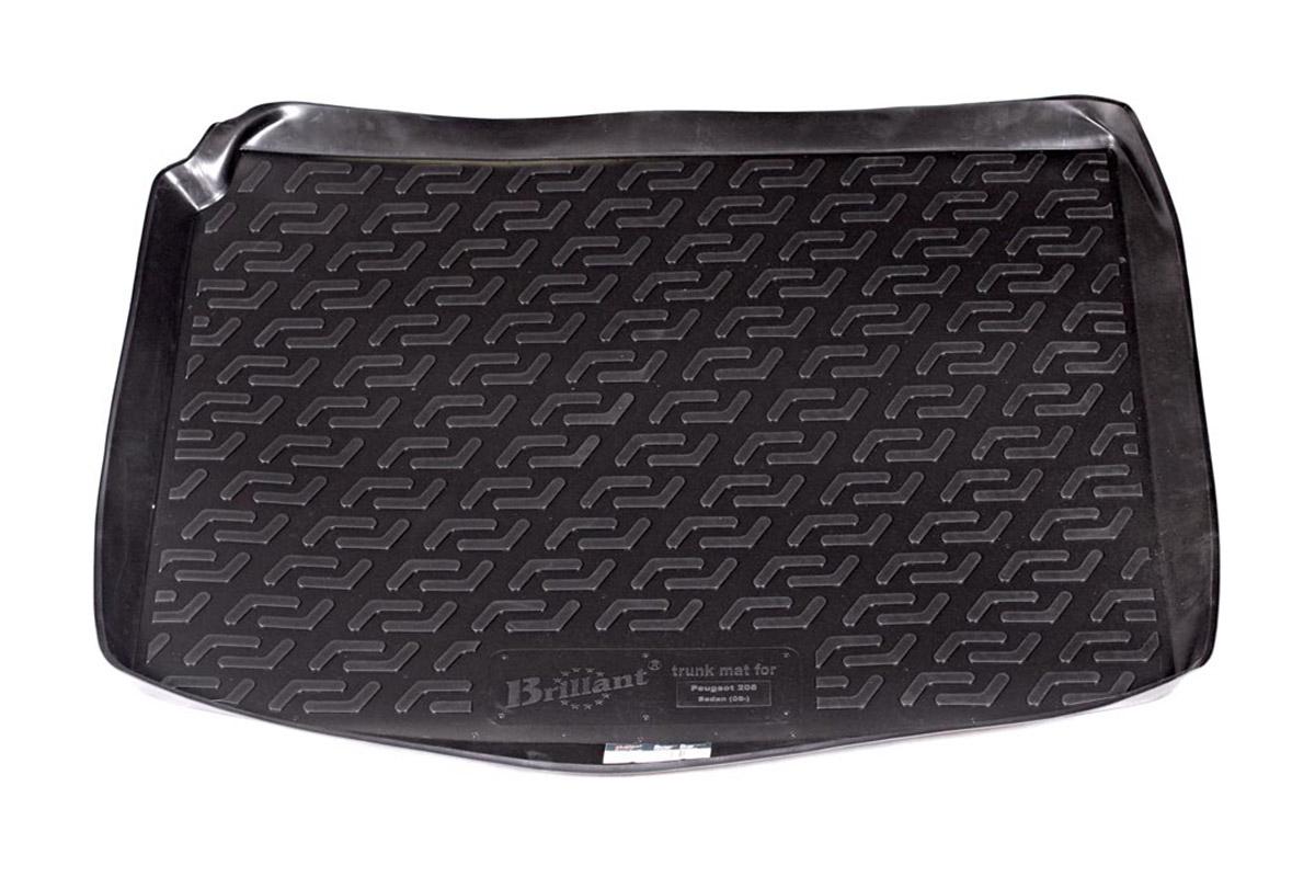 Коврик в багажник Peugeot 206 sd (06-) полиуретанАксион Т33Коврики производятся индивидуально для каждой модели автомобиля из современного и экологически чистого материала, точно повторяют геометрию пола автомобиля, имеют высокий борт от 4 см до 6 см., обладают повышенной износоустойчивостью, антискользящими свойствами, лишены резкого запаха, сохраняют свои потребительские свойства в широком диапазоне температур (-50 +80 С).