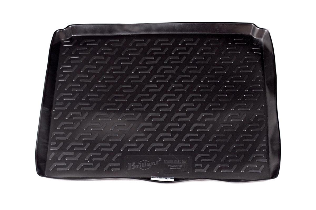 Коврик в багажник L.Locker, для Peugeot 407 sd (04-)0113010201Коврик L.Locker производится индивидуально для каждой модели автомобиля из современного и экологически чистого материала. Изделие точно повторяют геометрию пола автомобиля, имеет высокий борт, обладает повышенной износоустойчивостью, антискользящими свойствами, лишен резкого запаха и сохраняет свои потребительские свойства в широком диапазоне температур (от -50°С до +80°С).