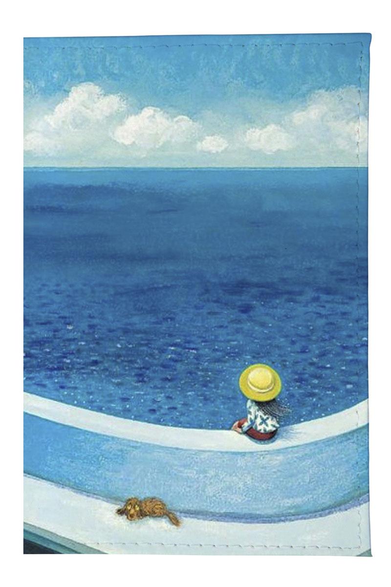 Обложка для паспорта Mitya Veselkov Мылыш и пес у моря, цвет: голубой. OZAM150W16-11135_914Качественная обложка Mitya Veselkov Мылыш и пес у моря выполнена из легкого и прочного ПВХ, который надежно защищает важные документы от пыли и влаги. Рисунок нанесён специальным образом и защищён от стирания. Изделие раскладывается пополам.Яркий современный дизайн, который является основной фишкой данной модели, будет радовать глаз.