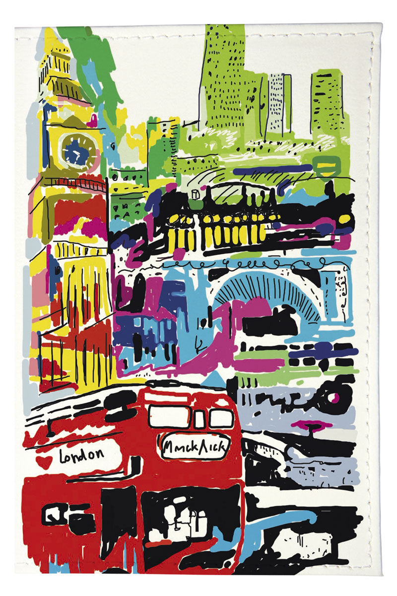 Mitya Veselkov Обложка для автодокументов Лондон в красках. AUTOZAM194584.46BD.24 OrangeРазмер изделия:13,8 х 9,5 см.