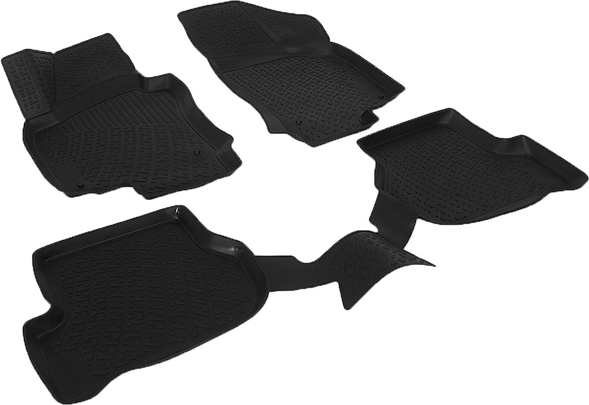 Коврики в салон автомобиля L.Locker, для Volkswagen Golf V (03-08), 4 шт80621Коврики L.Locker производятся индивидуально для каждой модели автомобиля из современного и экологически чистого материала. Изделия точно повторяют геометрию пола автомобиля, имеют высокий борт, обладают повышенной износоустойчивостью, антискользящими свойствами, лишены резкого запаха и сохраняют свои потребительские свойства в широком диапазоне температур (от -50°С до +80°С). Рисунок ковриков специально спроектирован для уменьшения скольжения ног водителя и имеет достаточную глубину, препятствующую свободному перемещению жидкости и грязи на поверхности. Одновременно с этим рисунок не создает дискомфорта при вождении автомобиля. Водительский ковер с предустановленными креплениями фиксируется на штатные места в полу салона автомобиля. Новая технология системы креплений герметична, не дает влаге и грязи проникать внутрь через крепеж на обшивку пола.