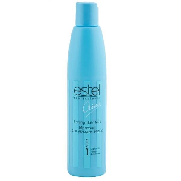 Estel Airex Молочко для укладки волос легкой фиксации 250 мл7207037000Estel Airex Молочко для укладки волос легкой фиксации обеспечивает легкую фиксацию, облегчает укладку волос. Содержит активные увлажняющие компоненты и комплекс силоксанов, придающие натуральный блеск и эластичность. Не отягощает волосы. Используется как на сухих, так и на влажных волосах.В результате легкий объем и фиксация, ухоженные, послушные волосы.