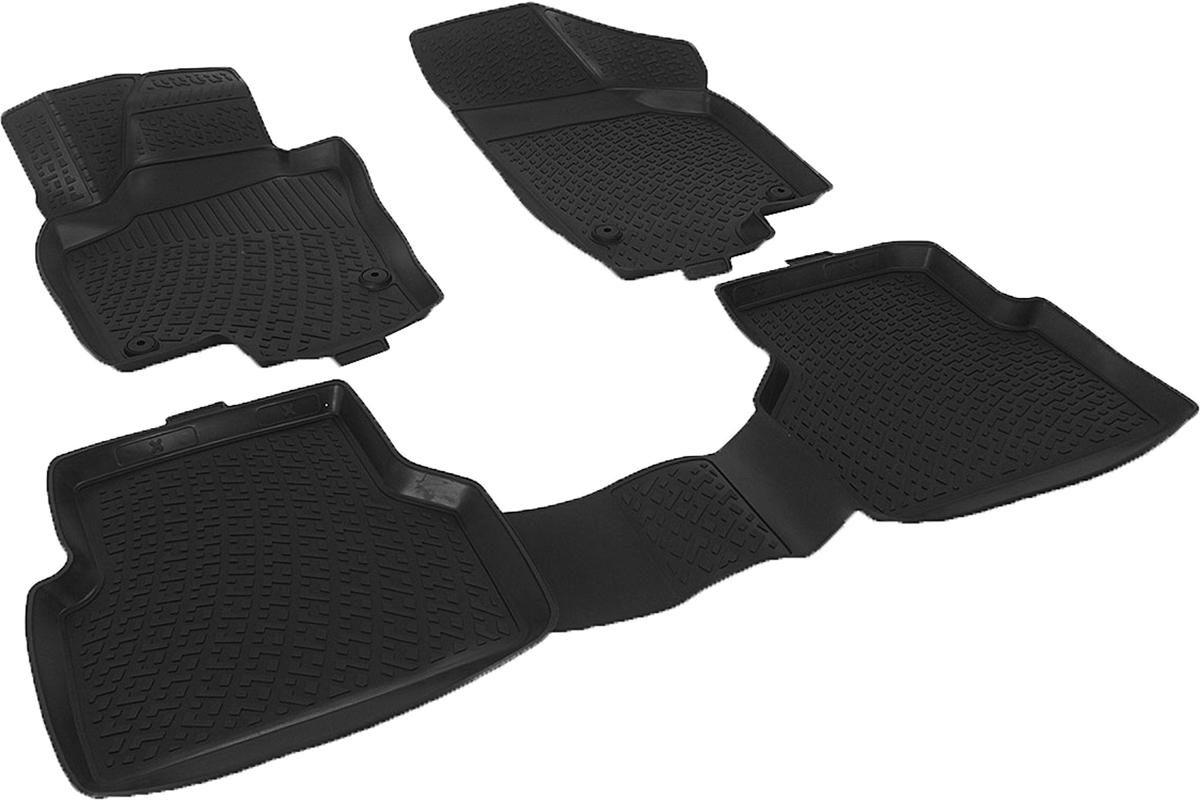 Коврики в салон автомобиля L.Locker, для Volkswagen Tiguan (07-)AL-350Коврики L.Locker производятся индивидуально для каждой модели автомобиля из современного и экологически чистого материала. Изделия точно повторяют геометрию пола автомобиля, имеют высокий борт, обладают повышенной износоустойчивостью, антискользящими свойствами, лишены резкого запаха и сохраняют свои потребительские свойства в широком диапазоне температур (от -50°С до +80°С). Рисунок ковриков специально спроектирован для уменьшения скольжения ног водителя и имеет достаточную глубину, препятствующую свободному перемещению жидкости и грязи на поверхности. Одновременно с этим рисунок не создает дискомфорта при вождении автомобиля. Водительский ковер с предустановленными креплениями фиксируется на штатные места в полу салона автомобиля. Новая технология системы креплений герметична, не дает влаге и грязи проникать внутрь через крепеж на обшивку пола.