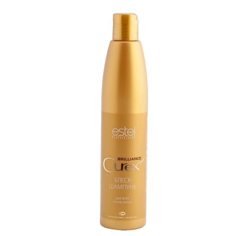 Estel Curex Brilliance Блеск-шампунь для волос 300 мл7221206000Estel Curex Brilliance Блеск-шампунь для волос бережно очищает волосы, делает их эластичными и шелковистыми. Наполняет волосы зеркальным блеском и сиянием.Обладает кондиционирующим эффектом, обеспечивающим легкое расчесывание.