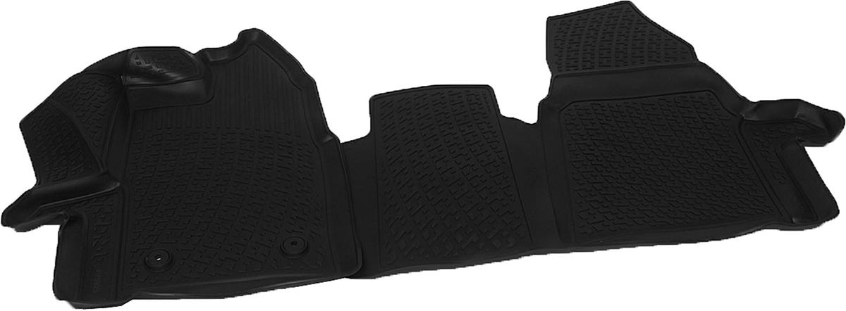 Коврики в салон автомобиля L.Locker, для Ford Tourneo Gustom (12-) передниеВетерок 2ГФКоврики L.Locker производятся индивидуально для каждой модели автомобиля из современного и экологически чистого материала. Изделия точно повторяют геометрию пола автомобиля, имеют высокий борт, обладают повышенной износоустойчивостью, антискользящими свойствами, лишены резкого запаха и сохраняют свои потребительские свойства в широком диапазоне температур (от -50°С до +80°С). Рисунок ковриков специально спроектирован для уменьшения скольжения ног водителя и имеет достаточную глубину, препятствующую свободному перемещению жидкости и грязи на поверхности. Одновременно с этим рисунок не создает дискомфорта при вождении автомобиля. Водительский ковер с предустановленными креплениями фиксируется на штатные места в полу салона автомобиля. Новая технология системы креплений герметична, не дает влаге и грязи проникать внутрь через крепеж на обшивку пола.