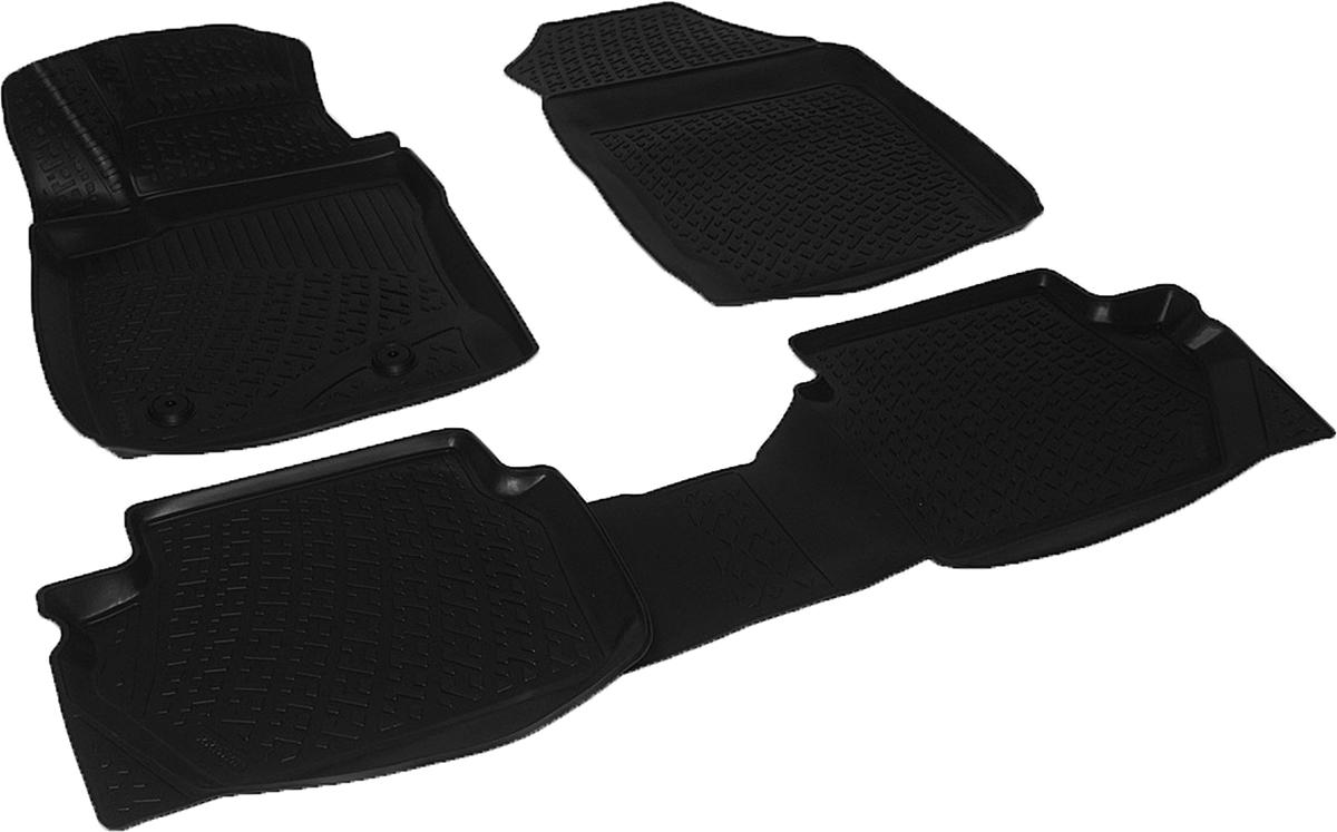 Коврики в салон автомобиля L.Locker, для Ford EcoSport (13-)0105130101Коврики L.Locker производятся индивидуально для каждой модели автомобиля из современного и экологически чистого материала. Изделия точно повторяют геометрию пола автомобиля, имеют высокий борт, обладают повышенной износоустойчивостью, антискользящими свойствами, лишены резкого запаха и сохраняют свои потребительские свойства в широком диапазоне температур (от -50°С до +80°С). Рисунок ковриков специально спроектирован для уменьшения скольжения ног водителя и имеет достаточную глубину, препятствующую свободному перемещению жидкости и грязи на поверхности. Одновременно с этим рисунок не создает дискомфорта при вождении автомобиля. Водительский ковер с предустановленными креплениями фиксируется на штатные места в полу салона автомобиля. Новая технология системы креплений герметична, не дает влаге и грязи проникать внутрь через крепеж на обшивку пола.