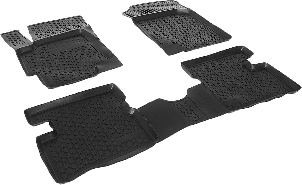 Коврики в салон автомобиля L.Locker, для Kia Rio III (05-), 4 штFS-80264Коврики L.Locker производятся индивидуально для каждой модели автомобиля из современного и экологически чистого материала. Изделия точно повторяют геометрию пола автомобиля, имеют высокий борт, обладают повышенной износоустойчивостью, антискользящими свойствами, лишены резкого запаха и сохраняют свои потребительские свойства в широком диапазоне температур (от -50°С до +80°С). Рисунок ковриков специально спроектирован для уменьшения скольжения ног водителя и имеет достаточную глубину, препятствующую свободному перемещению жидкости и грязи на поверхности. Одновременно с этим рисунок не создает дискомфорта при вождении автомобиля. Водительский ковер с предустановленными креплениями фиксируется на штатные места в полу салона автомобиля. Новая технология системы креплений герметична, не дает влаге и грязи проникать внутрь через крепеж на обшивку пола.