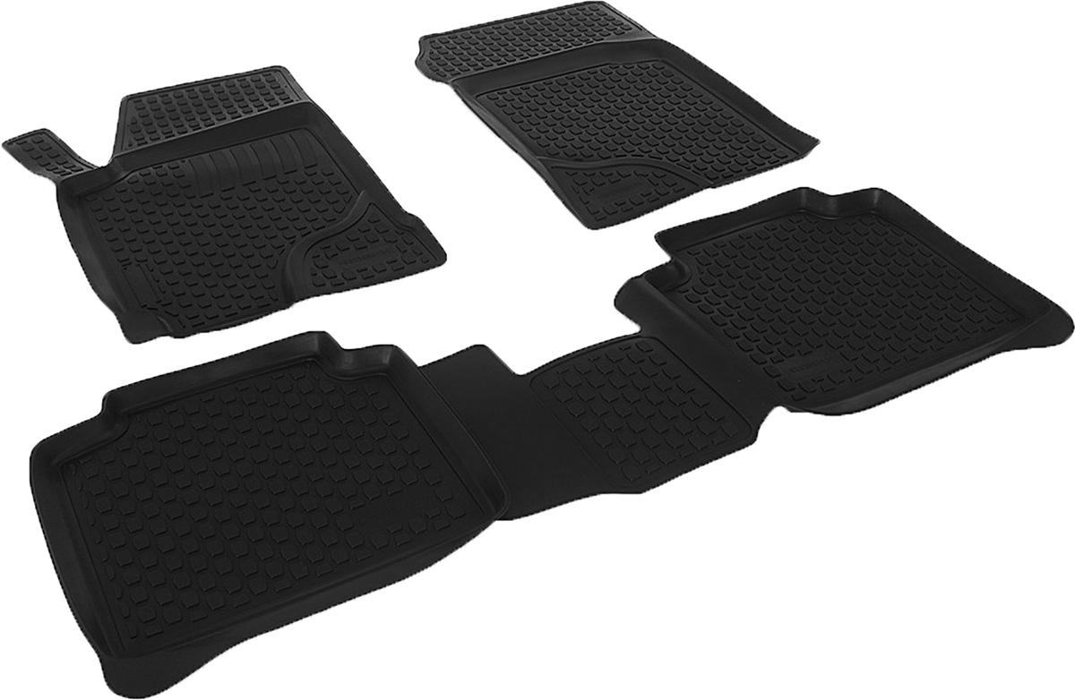 Коврики в салон автомобиля L.Locker, для Kia Cerato (05-), 4 шт0118020101Коврики L.Locker производятся индивидуально для каждой модели автомобиля из современного и экологически чистого материала. Изделия точно повторяют геометрию пола автомобиля, имеют высокий борт, обладают повышенной износоустойчивостью, антискользящими свойствами, лишены резкого запаха и сохраняют свои потребительские свойства в широком диапазоне температур (от -50°С до +80°С). Рисунок ковриков специально спроектирован для уменьшения скольжения ног водителя и имеет достаточную глубину, препятствующую свободному перемещению жидкости и грязи на поверхности. Одновременно с этим рисунок не создает дискомфорта при вождении автомобиля. Водительский ковер с предустановленными креплениями фиксируется на штатные места в полу салона автомобиля. Новая технология системы креплений герметична, не дает влаге и грязи проникать внутрь через крепеж на обшивку пола.