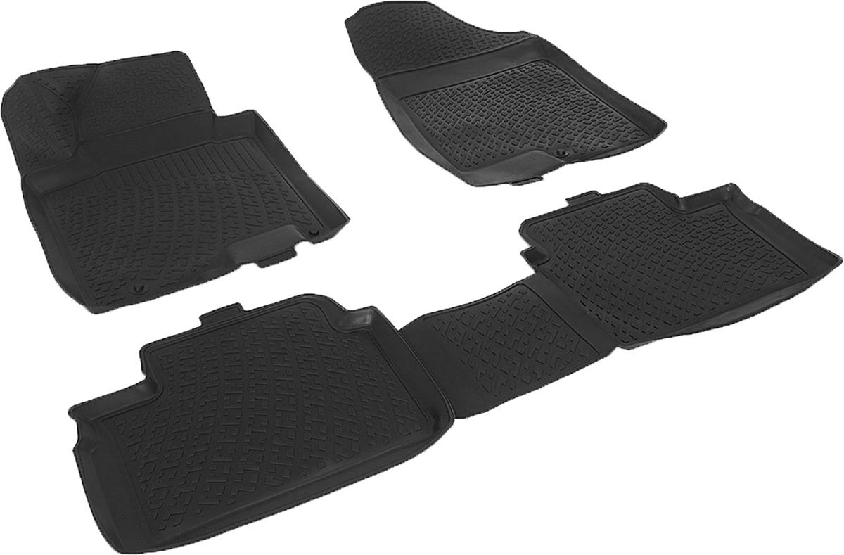 Коврики в салон автомобиля L.Locker, для Kia Ceed III SW (12-), 4 шт0142020101Коврики L.Locker производятся индивидуально для каждой модели автомобиля из современного и экологически чистого материала. Изделия точно повторяют геометрию пола автомобиля, имеют высокий борт, обладают повышенной износоустойчивостью, антискользящими свойствами, лишены резкого запаха и сохраняют свои потребительские свойства в широком диапазоне температур (от -50°С до +80°С). Рисунок ковриков специально спроектирован для уменьшения скольжения ног водителя и имеет достаточную глубину, препятствующую свободному перемещению жидкости и грязи на поверхности. Одновременно с этим рисунок не создает дискомфорта при вождении автомобиля. Водительский ковер с предустановленными креплениями фиксируется на штатные места в полу салона автомобиля. Новая технология системы креплений герметична, не дает влаге и грязи проникать внутрь через крепеж на обшивку пола.