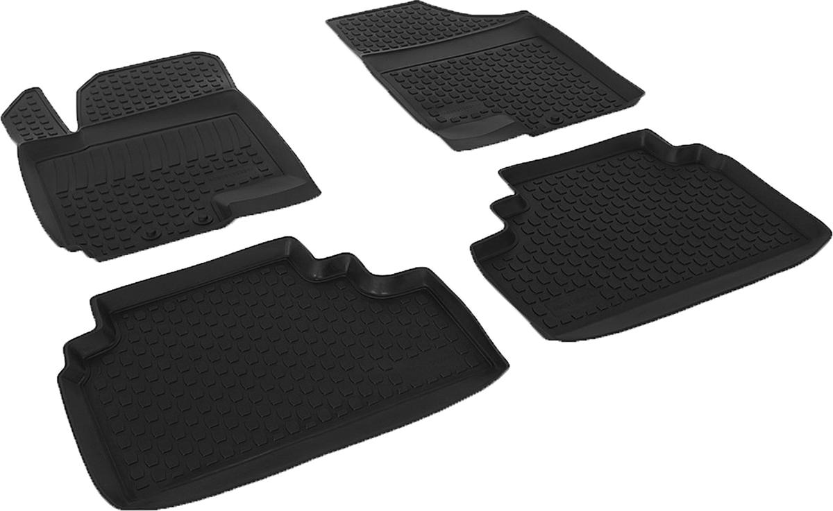 Коврики в салон автомобиля L.Locker, для Kia Venga (10-), 4 шт21395599Коврики L.Locker производятся индивидуально для каждой модели автомобиля из современного и экологически чистого материала. Изделия точно повторяют геометрию пола автомобиля, имеют высокий борт, обладают повышенной износоустойчивостью, антискользящими свойствами, лишены резкого запаха и сохраняют свои потребительские свойства в широком диапазоне температур (от -50°С до +80°С). Рисунок ковриков специально спроектирован для уменьшения скольжения ног водителя и имеет достаточную глубину, препятствующую свободному перемещению жидкости и грязи на поверхности. Одновременно с этим рисунок не создает дискомфорта при вождении автомобиля. Водительский ковер с предустановленными креплениями фиксируется на штатные места в полу салона автомобиля. Новая технология системы креплений герметична, не дает влаге и грязи проникать внутрь через крепеж на обшивку пола.