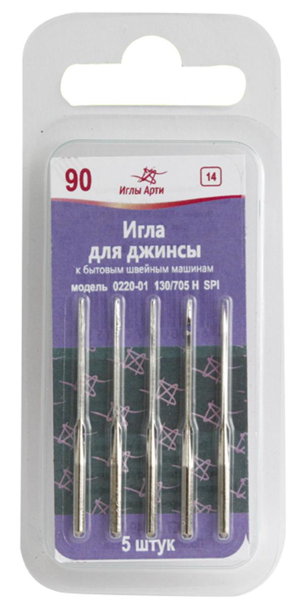 Иглы для швейных машин Арт, для джинсы, №90, уп.5шт. 677533677533