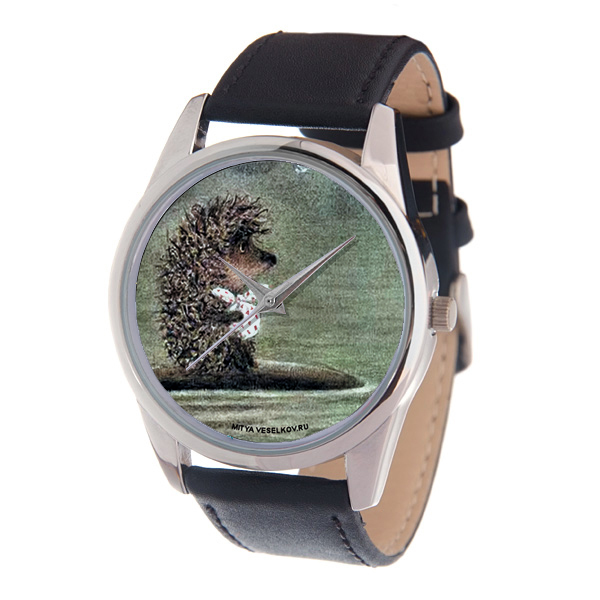 Zakazat.ru: Часы наручные Mitya Veselkov Ежик плывет, цвет: черный. MV-077
