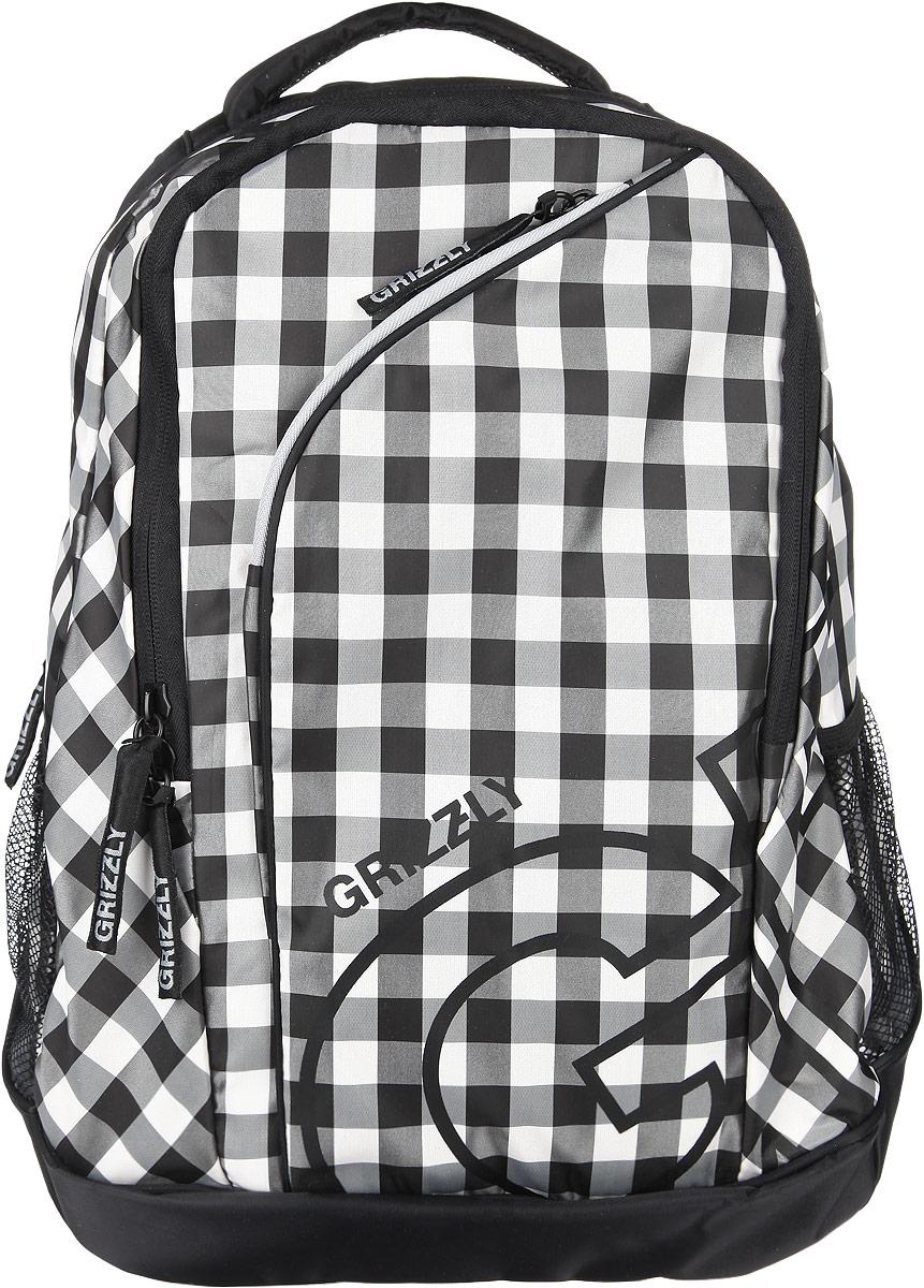 Рюкзак женский Grizzly, цвет: черный, серый, 28 л. RD-640-2/3 - Рюкзаки