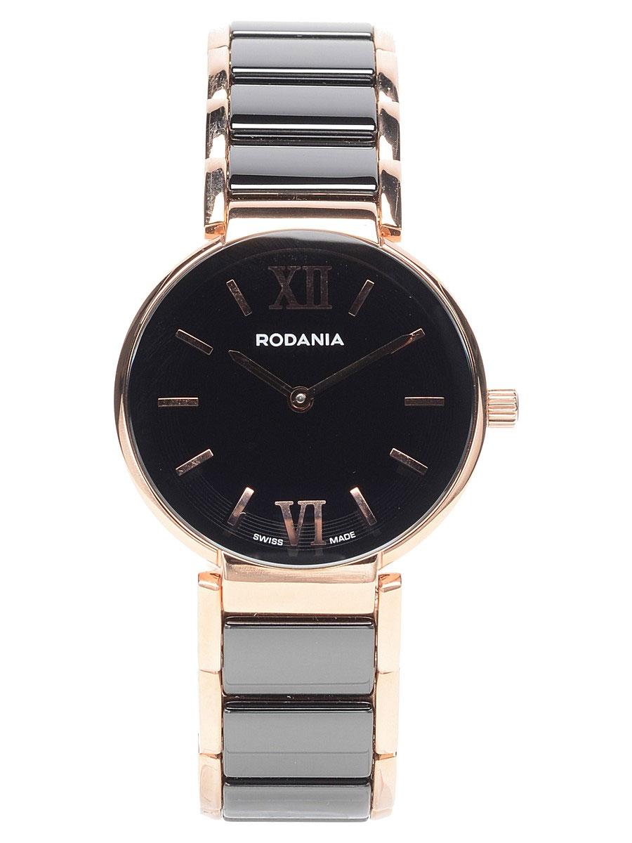 Наручные часы женские Rodania, цвет: золотистый, черный. 2506244BM8434-58AEОригинальные и качественные часы Rodania