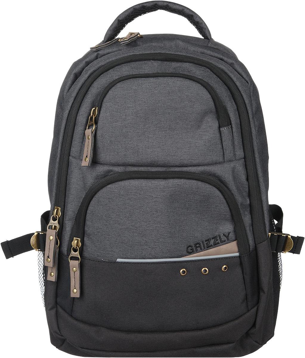 Рюкзак мужской Grizzly, цвет: серый, 29 л. RU-612-1/3 - Рюкзаки