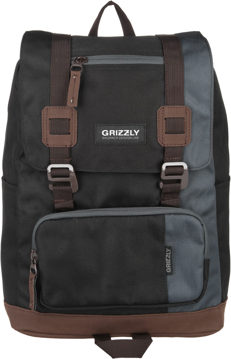 Рюкзак городской Grizzly, цвет: черный, 23 л. RU-619-2/47292Стильный городской рюкзак Grizzly выполнен из таслана, оформлен нашивкой с символикой бренда.Рюкзак содержит одно вместительное отделение, которое закрывается на молнию и дополнительно клапаном на пластиковые пряжки. Внутри расположены: врезной карман на молнии и мягкий накладной карман на липучке, предназначенный для переноски планшета или небольшого ноутбука. Снаружи, по бокам изделия, расположены два накладных кармана. Клапан дополнен врезной карман на молнии. На лицевой стороне расположен объемный накладной карман на молнии. Задняя сторона рюкзака дополнена потайным карманом на молнии. Рюкзак оснащен петлей для подвешивания, двумя практичными лямками регулируемой длины.Практичный рюкзак станет незаменимым аксессуаром, который вместит в себя все необходимое.