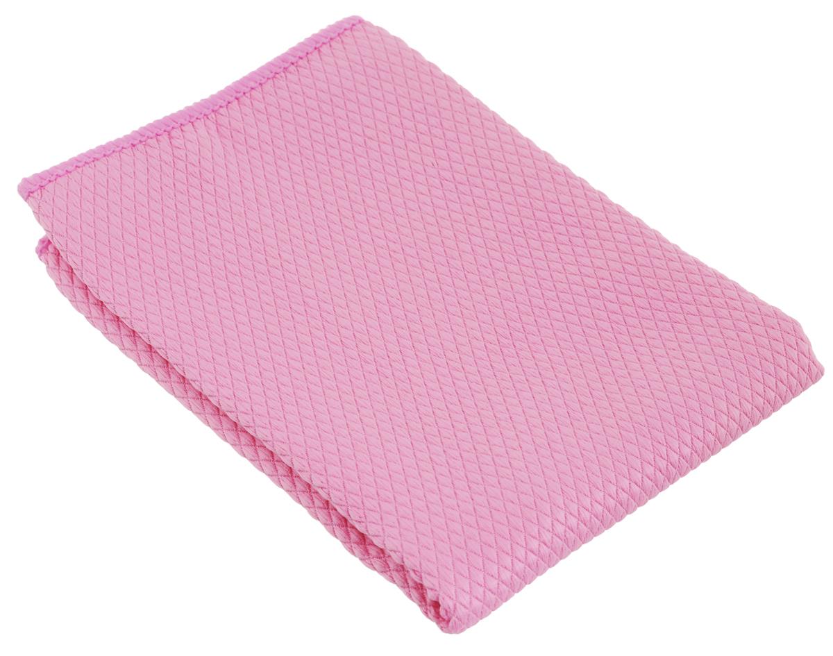 Салфетка чистящая Sapfire CleaningX-treme Сloth, цвет: розовый, 35 х 40 смK100Салфетка Sapfire CleaningX-treme Сloth предназначена для бережной очистки от сильных загрязнений. Великолепно удаляет пыль и грязь с любой поверхности. Клиновидные микроскопические волокна захватывают и легко удерживают частички пыли, жировой и никотиновый налет, микроорганизмы, в том числе болезнетворные и вызывающие аллергию.Материал салфетки: микрофибра (85% полиэстер и 15% полиамид) - обладает уникальной способностью быстро впитывать большой объем жидкости (в 8 раз больше собственной массы). Салфетка великолепно моет и сушит. Протертая поверхность становится идеально чистой, сухой, блестящей, без разводов и ворсинок.Размер салфетки: 35 х 40 см.