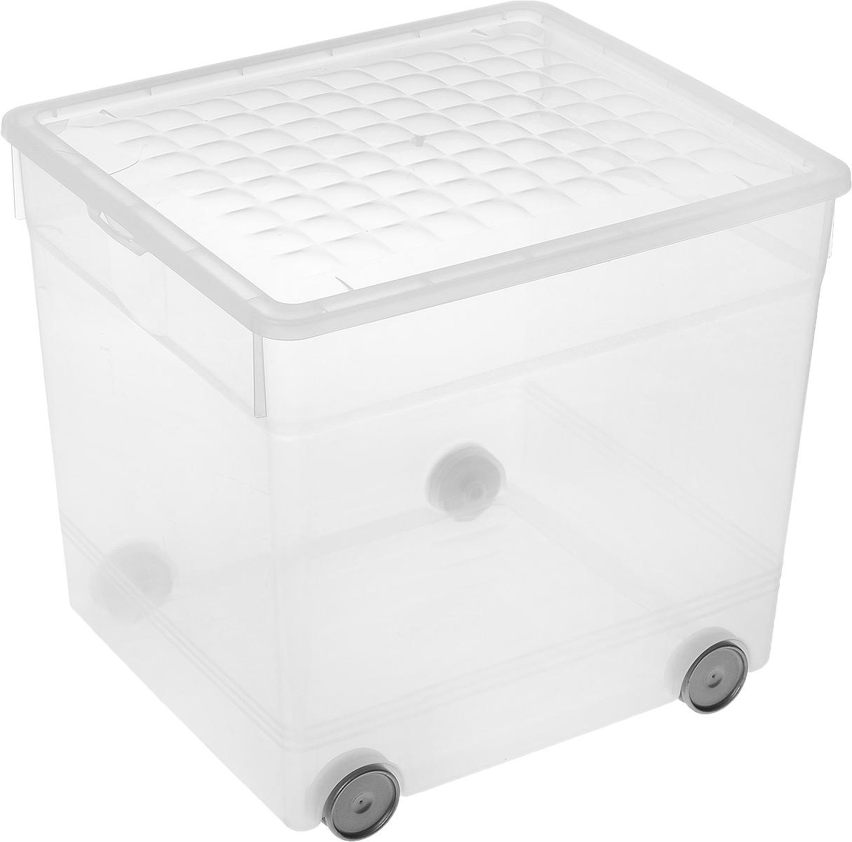 Контейнер для хранения Curver, на колесиках, 33 л74-0120Контейнер для хранения Curver изготовлен из прозрачного пластика. Изделие предназначено для хранения различных бытовых вещей, игрушек, одежды и многого другого. Контейнер оснащен четырьмя колесиками и откидной крышкой, которая закрывается на две защелки.Размер контейнера: 34,5 х 30 х 34 см.