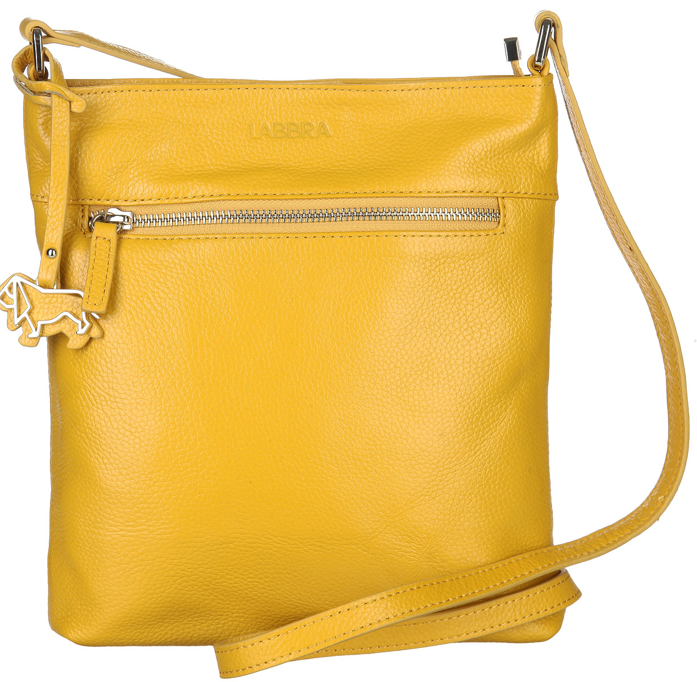 Сумка женская Labbra, цвет: желтый. L-A803578-2Стильная сумка Labbra изготовлена из натуральной кожи с зернистой фактурой, оформлена декоративной подвеской.Изделие содержит одно основное отделение, закрывающееся застежку-молнию. Внутри расположены четыре накладных кармашка для мелочей, один из которых закрывается на молнию, врезной карман на молнии. Задняя и лицевая стороны сумки дополнены врезными карманами, каждый из которых закрывается на молнию. Изделие оснащено плечевым ремнем регулируемой длины.Оригинальный аксессуар позволит вам завершить образ и быть неотразимой.