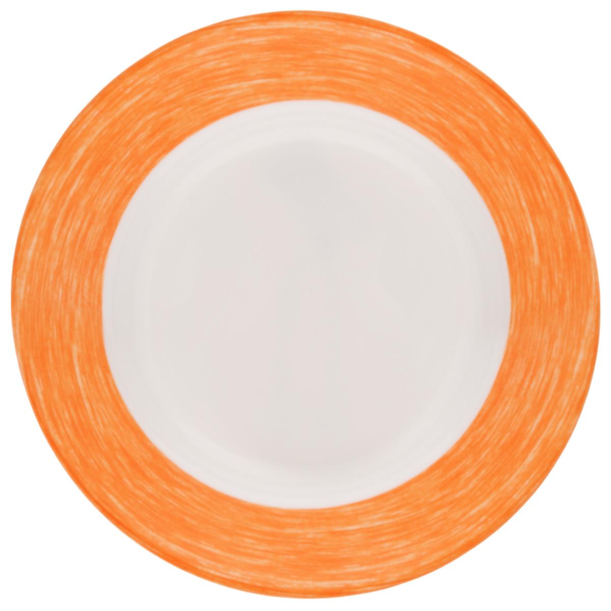 Тарелка глубокая Luminarc Color Days Orange, диаметр 22 смFS-91909Глубокая тарелка Luminarc Color Days Orange выполнена из ударопрочного стекла и имеет классическую круглую форму. Она прекрасно впишется в интерьер вашей кухни и станет достойным дополнением к кухонному инвентарю. Тарелка Luminarc Color Days Orange подчеркнет прекрасный вкус хозяйки и станет отличным подарком. Диаметр тарелки (по верхнему краю): 22 см.