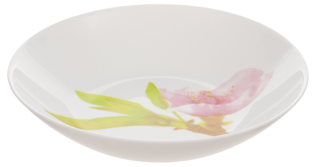 Тарелка глубокая Luminarc Water Color, диаметр 20 смFS-91909Глубокая тарелка Luminarc Water Color выполнена из ударопрочного стекла и украшена изображением цветов. Она прекрасно впишется в интерьер вашей кухни и станет достойным дополнением к кухонному инвентарю. Тарелка Luminarc Water Color подчеркнет прекрасный вкус хозяйки и станет отличным подарком. Диаметр тарелки (по верхнему краю): 20 см.