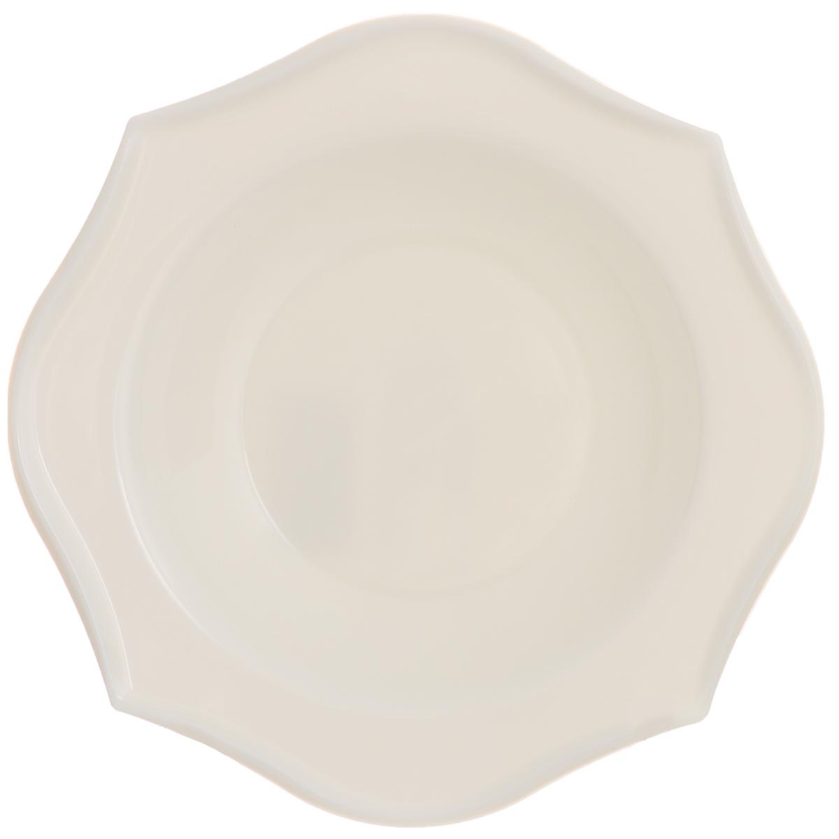 Тарелка глубокая Luminarc Louisa, диаметр 22,5 смJ1746Глубокая тарелка Luminarc Louisa выполнена из ударопрочного стекла. Она прекрасно впишется в интерьер вашей кухни и станет достойным дополнением к кухонному инвентарю. Тарелка Luminarc Louisa подчеркнет прекрасный вкус хозяйки и станет отличным подарком. Диаметр тарелки (по верхнему краю): 22,5 см.