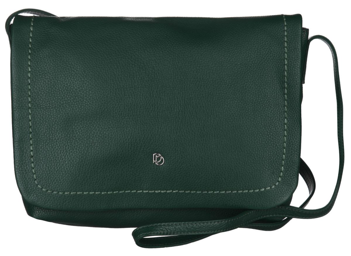 Сумка женская Pimobetti, цвет: темно-зеленый. 14303BA-B86-05-CСтильная сумка Pimobetti изготовлена из натуральной кожи с зернистой фактурой, оформлена металлической фурнитурой и подвеской.Изделие содержит одно отделение, которое закрывается клапаном на магнитную кнопку. Внутри изделия расположены три накладных кармашка для мелочей, один из которых закрывается на кнопку, и врезной карман на молнии. Задняя сторона сумки дополнена врезным карманом на молнии. Изделие оснащено практичным плечевым ремнем регулируемой длины.Оригинальный аксессуар позволит вам завершить образ и быть неотразимой.