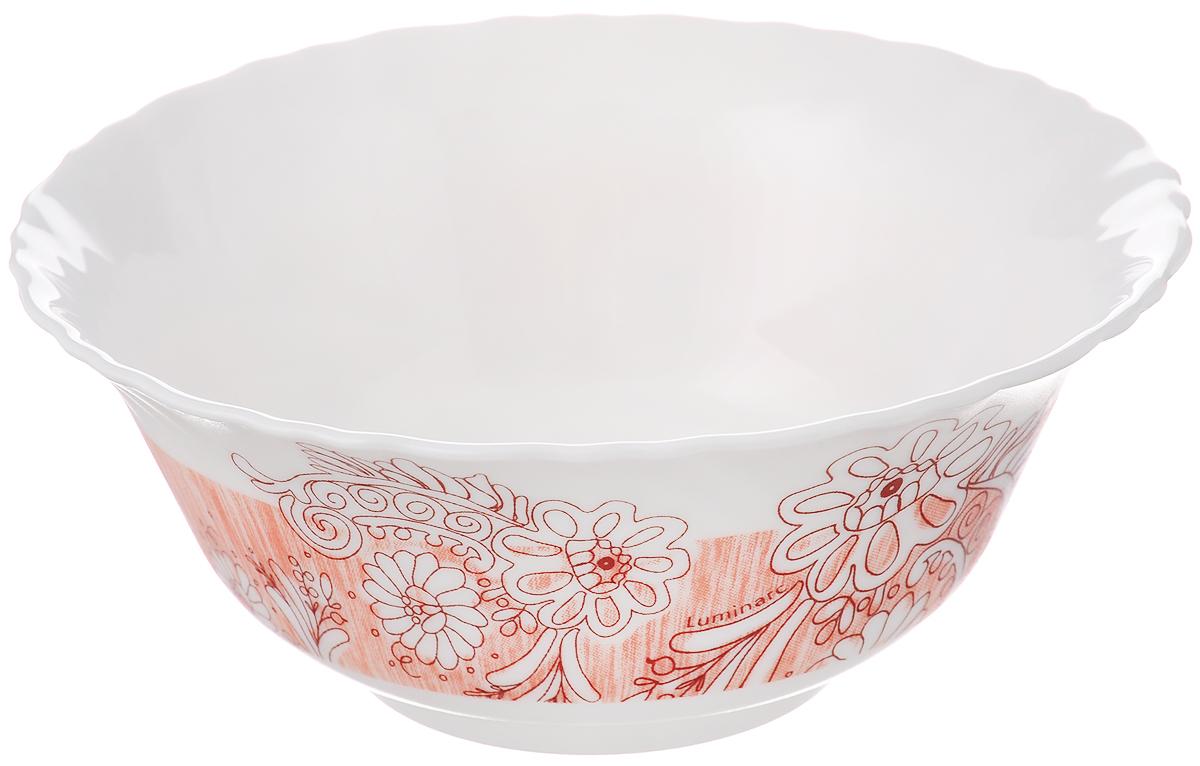 Салатник Luminarc Minelli, цвет: белый, светло-оранжевый, диаметр 12,5 см54 009312Салатник Luminarc Minelli, изготовленный из высококачественного стекла, прекрасно впишется в интерьер вашей кухни и станет достойным дополнением к кухонному инвентарю. Салатник оформлен ярким рисунком. Такой салатник не только украсит ваш кухонный стол и подчеркнет прекрасный вкус хозяйки, но и станет отличным подарком.Диаметр по верхнему краю: 12,5 см.