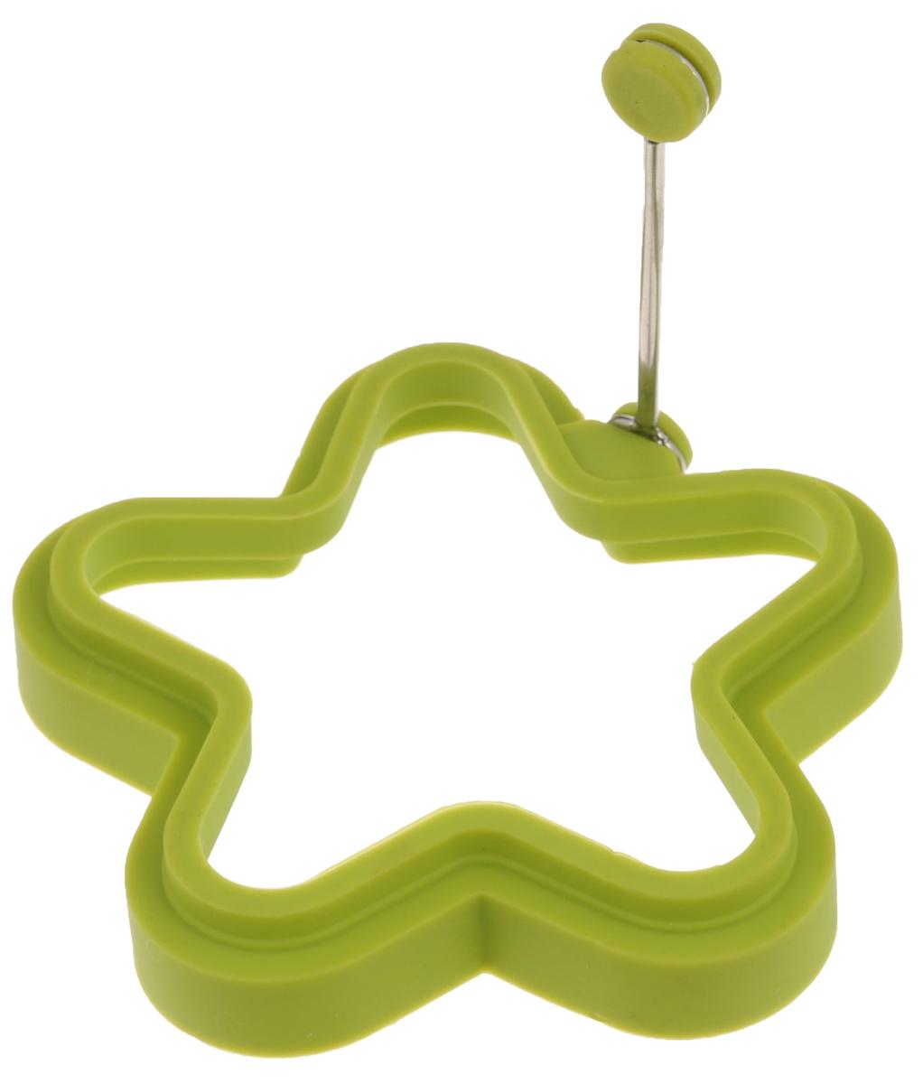 Форма для яичницы Mayer & Boch Звезда, цвет: зеленыйFS-91909Форма Mayer & Boch Звезда изготовлена из силикона. Она предназначена для приготовления яичницы, выпекания блинов необычной формы и других блюд. Необходимо просто залить приготавливаемую массу внутрь формочки, расположенной на сковородке, и подождать, пока блюдо не дойдет до нужной кондиции. Благодаря такой формочке, вы привнесете немного оригинальности и разнообразия в свой повседневный завтрак.Можно мыть в посудомоечной машине.Размер: 11,5 х 11,5 х 2,2 см.