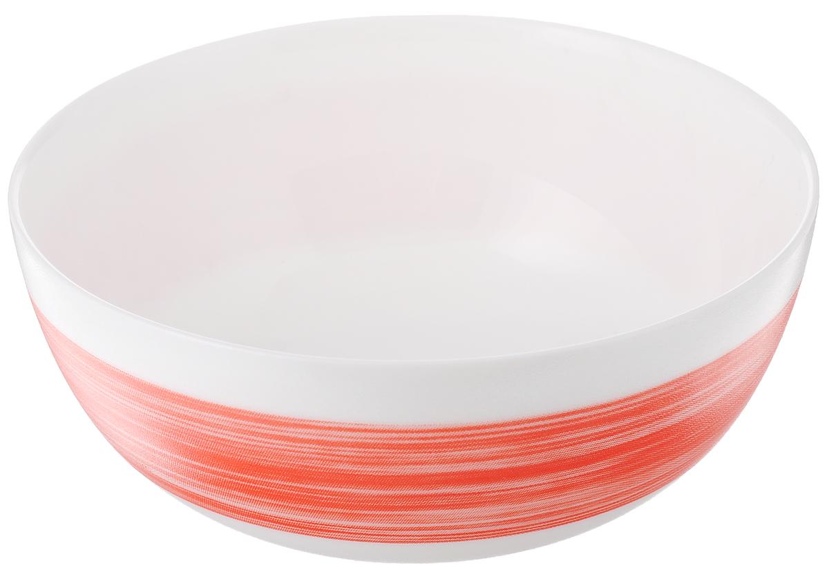 Салатник Luminarc Color Days Red, цвет: белый, красный, диаметр 12,5 см115510Великолепный круглый салатник Luminarc Color Days, изготовленный из ударопрочного стекла, прекрасно подойдет для подачи различных блюд: закусок, салатов или фруктов. Такой салатник украсит ваш праздничный или обеденный стол, а оригинальное исполнение понравится любой хозяйке. Диаметр салатника (по верхнему краю): 12,5 см.