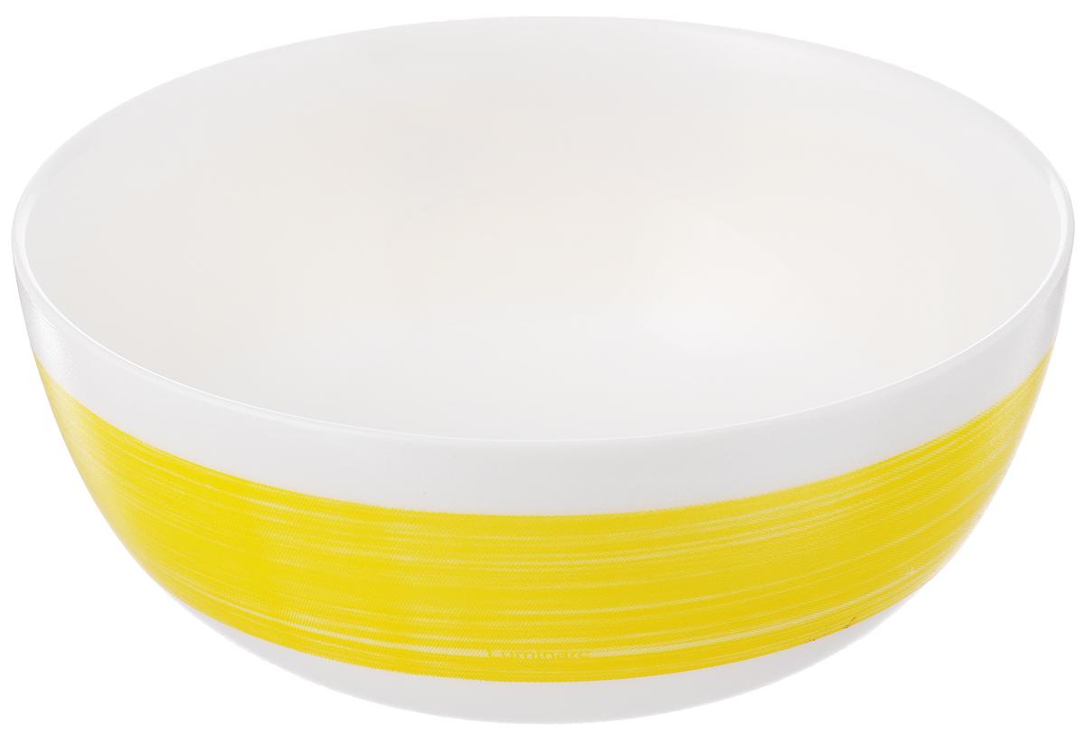 Салатник Luminarc Color Days Yellow, диаметр 12,5 см10414BD2Великолепный круглый салатник Luminarc Color Days Yellow, изготовленный из ударопрочного стекла, прекрасно подойдет для подачи различных блюд: закусок, салатов или фруктов. Такой салатник украсит ваш праздничный или обеденный стол, а оригинальное исполнение понравится любой хозяйке. Диаметр салатника (по верхнему краю): 12,5 см.