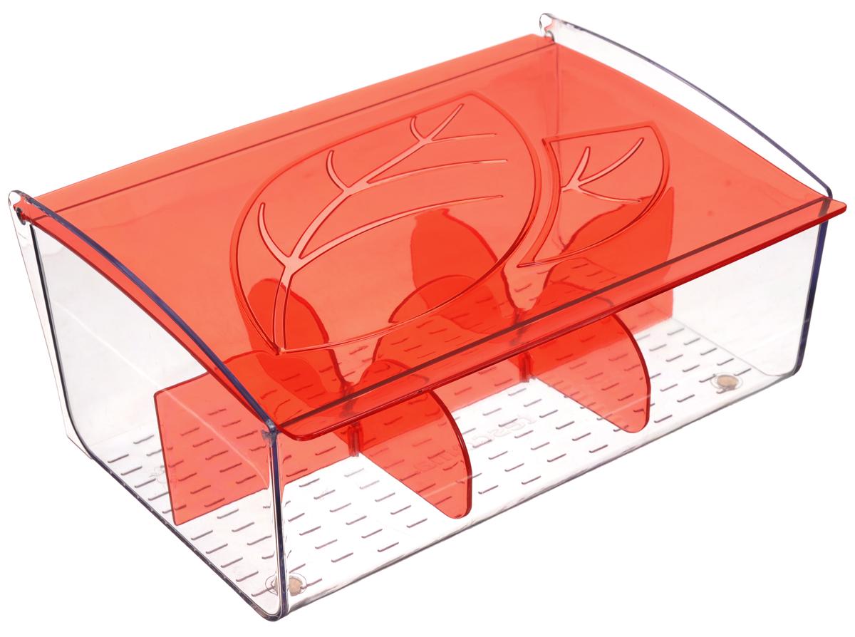 Коробка для чайных пакетиков Tescoma Mydrink, цвет: красный, прозрачный, 21,8 х 16,5 х 9,3 смVT-1520(SR)Коробка для чайных пакетиков Tescoma Mydrink изготовлена из прочного пластика. Изделие имеет 6 отделений для организованного хранения до 60 чайных пакетиков. Благодаря профилированному дну пакетики не скользят и не падают. Перегородки съемные, для более удобного мытья.