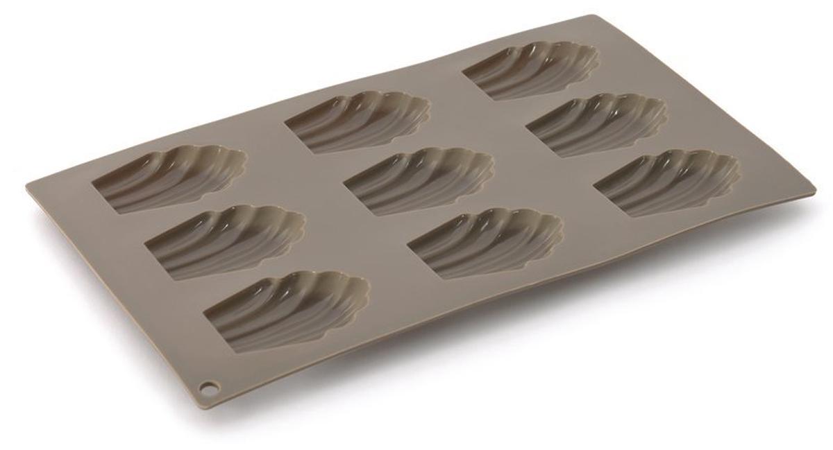 Форма для выпечки BergHOFF Studio, силиконовая, ракушки, 9 ячеекCL-4630Форма для выпечки BergHOFF Studio - в силиконовых формах торты и пирожные пекутся быстро и равномерно, а также с легкостью извлекаются, даже самые деликатные из них, так как силикон имеет удивительные антипригарные свойства. Более того, материал легко чистить в посудомоечной машине и безопасно использовать в духовке при температуре до 230 ° с. Хорошая новость для нетерпеливых и жаждущих скорей полакомиться: силикон остывает очень быстро!