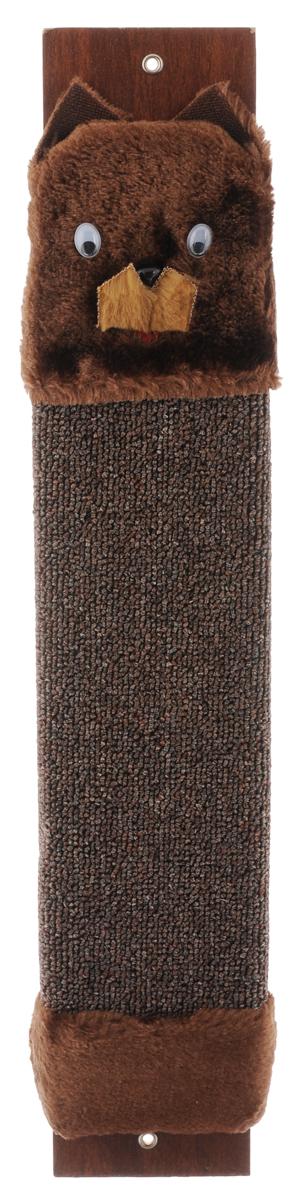 Когтеточка настенная Гамма Кот, с пропиткой, цвет: коричневый, 57 х 11 смКк-00400Когтеточка Гамма Кот выполнена из оргалита и ковролина в виде доски. Когтеточка предназначена для стачивания когтей вашего питомца. Натуральное волокно изделия обеспечивает естественный уход за когтями кошки, предотвращая их врастание. Специальная пропитка привлекает внимание кошки, что позволяет сохранить мебель и другие предметы интерьера.Установите когтеточку в любом доступном для кошки месте и закрепите ее наиболее подходящим для вас способом.Размер: 57 х 11 см.